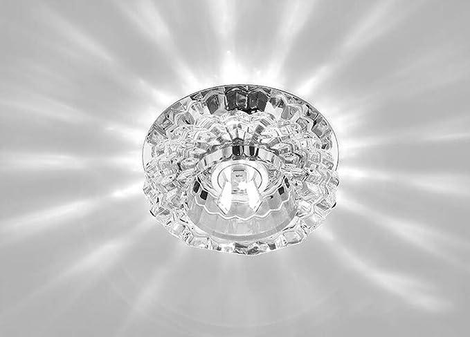 Plafoniere In Cristallo Molato : Plafoniera in acciaio cromato a specchio con finali di cristallo