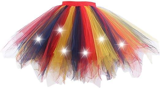 Xiuinserty - Faldas de tutú para niñas de colores contrastantes ...