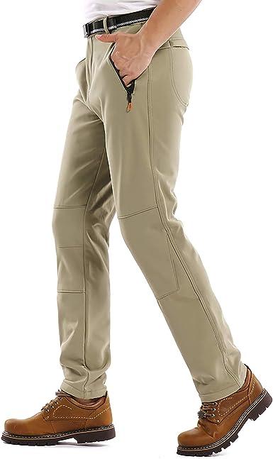 Jessie Kidden Hiking Pants Mens Waterproof Outdoor Fleece Lined Ski Snow Insulated Soft Shell Pants