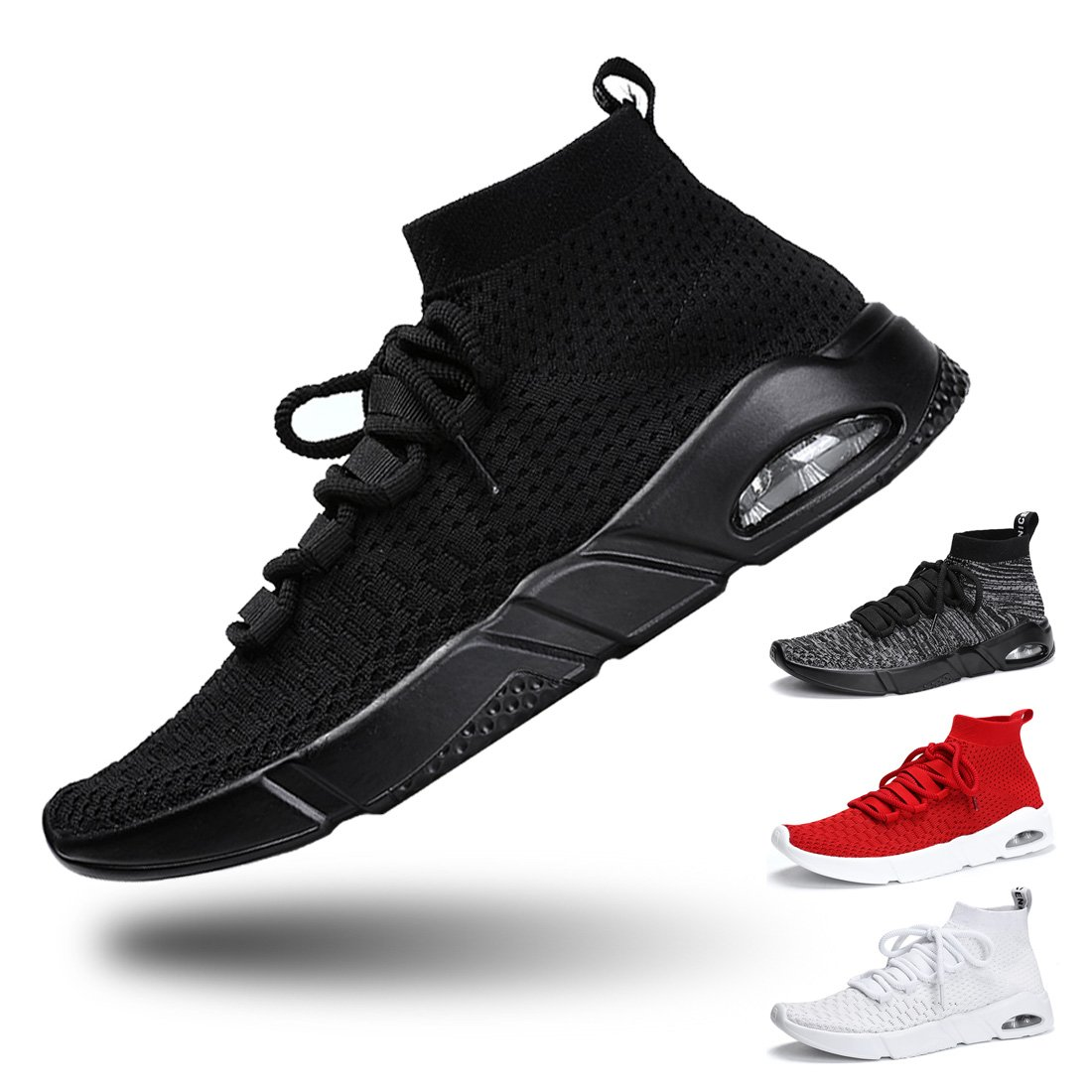 Women Walking Shoes Sport Running Sneakers Lightweight Breathable MeshShoes Casual Shoes for Women's Jogging Shopping 39-Black