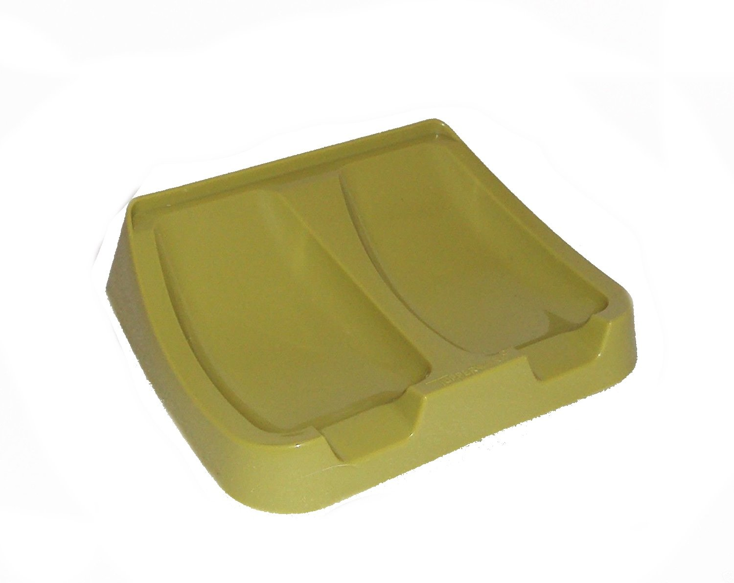Vintage Tupperware Gadget Double Spoon Rest Retro Kitchen Avocado Green