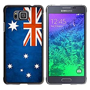 Slim Design Hard PC/Aluminum Shell Case Cover for Samsung GALAXY ALPHA G850 National Flag Nation Country Australia / JUSTGO PHONE PROTECTOR