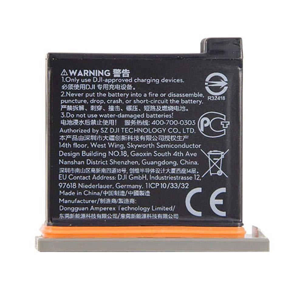 Blue-Yan 1300mAh Poche Batterie de Secours Originale pour OSMO Action Accessoires de cam/éra Sport Kit de Charge avec bo/îtier de Batterie