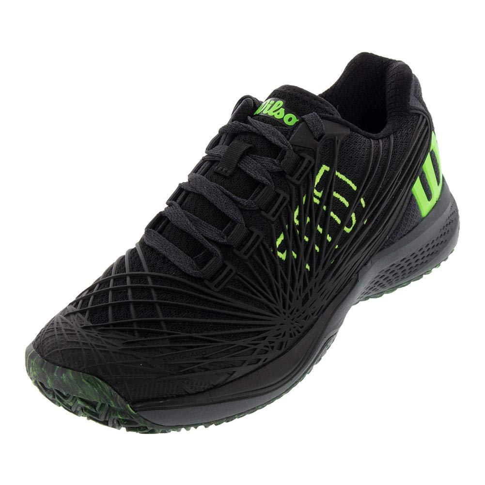 5.5 Black//Ebony//Green Gecko Wilson KAOS 2.0 JR Tennis Shoes