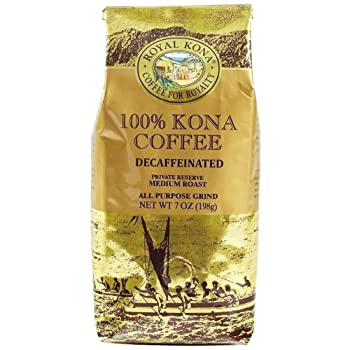 Royal Kona Decaffeinated Medium Roast Coffee