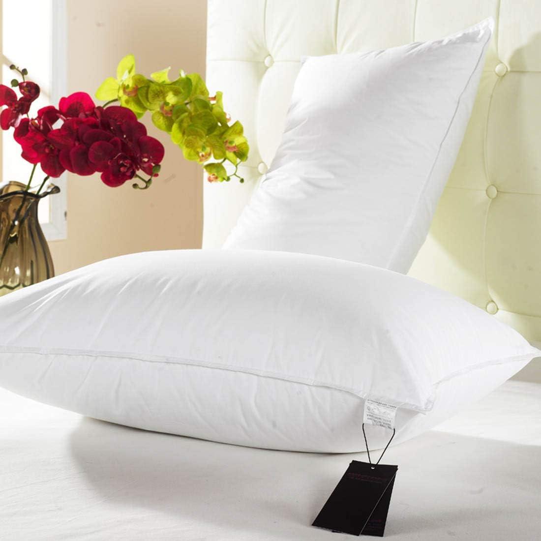 MISS&YG Superior 100% Almohadas De Plumas, 700 De Llenado De Energía,45 * 72cm/2 Pillows