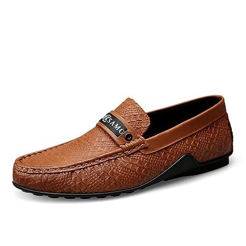 Mocasines Hombre Exquisito Casual Negocios Cuero Zapatos Slip on 2018 Nuevo: Amazon.es: Zapatos y complementos