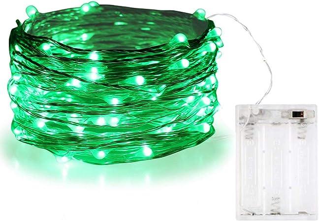 Guirnalda de luces Bolweo de 3 m con 30 luces LED, Verde, 1 pack: Amazon.es: Hogar