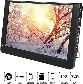 ASHATA TV portátil, Mini Reproductor de televisión portátil 1080P ...