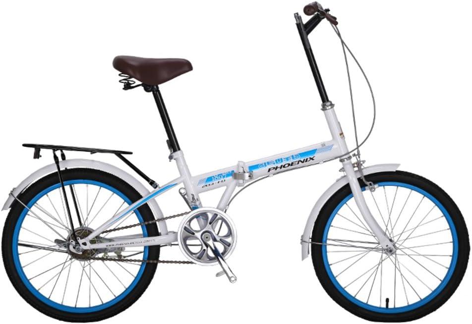 YEARLY Bicicleta Plegable Mujer, Adultos Bicicleta Plegable De una ...
