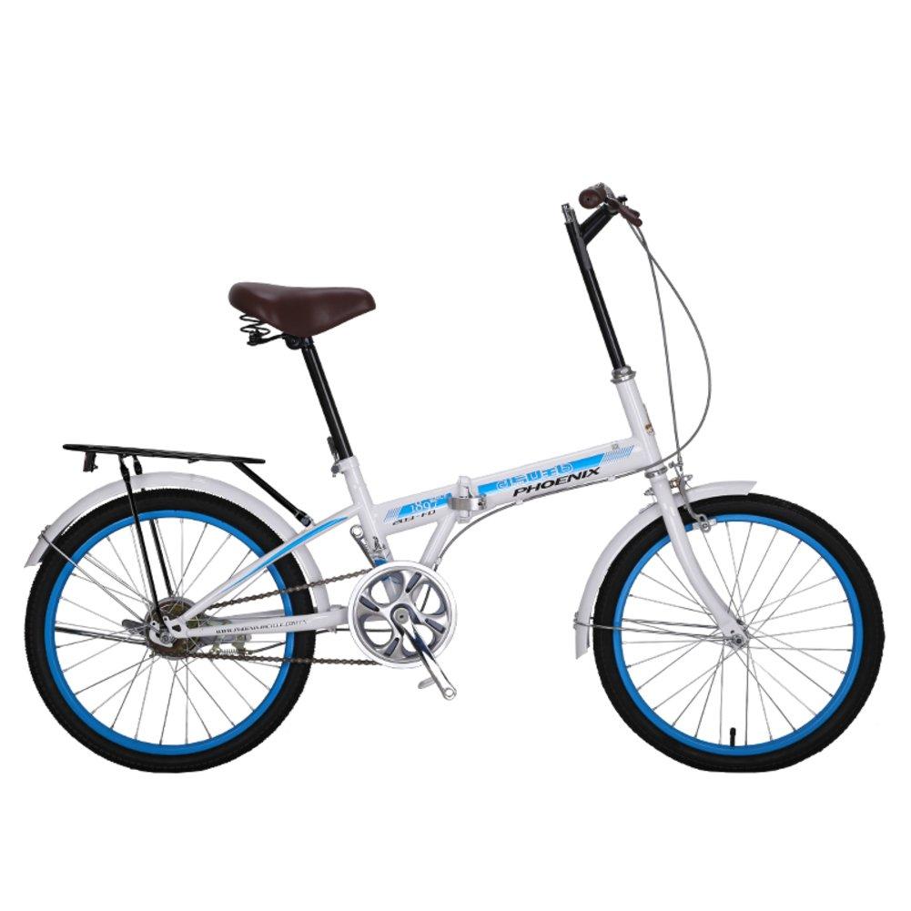 女性 折りたたみ自転車, 大人 折りたたみ自転車 シングル スピード 市 学生 男性と女性の自転車 折りたたみ自転車 B07CZF8NWQ 20inch ホワイトB ホワイトB 20inch