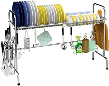 Veckle Large Dish Rack Stainless Steel Dish Drying Rack