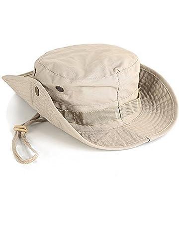 Leisial Sombrero de Pescador Camuflaje del Ejército de ala Ancha Borde  Redondo Anti-UV Algodón 07444c249e2
