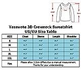Yasswete Boys Girls Christmas Sweatshirts Unisex 3D Printed Crewneck Sweaters Jackets Outwear Size L