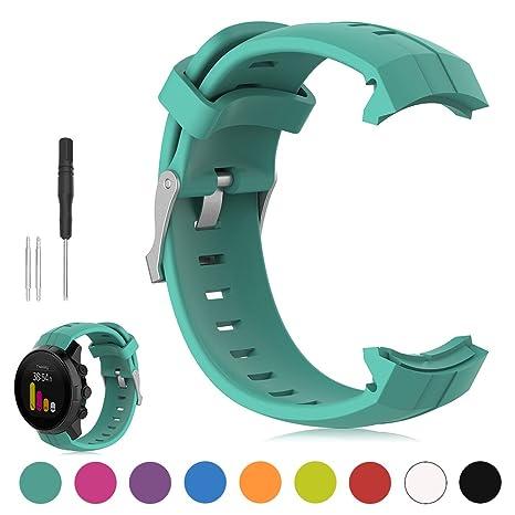iFeeker - Correa de repuesto para reloj de pulsera, fabricada en suave silicona, compatible con el reloj ...