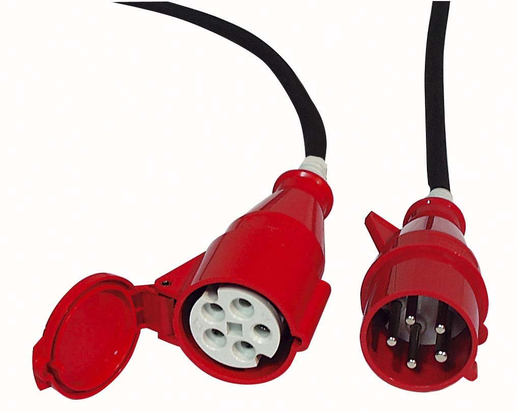 3x 16A 380V 10 m//5 x 2,5 mm2 Extension Cable