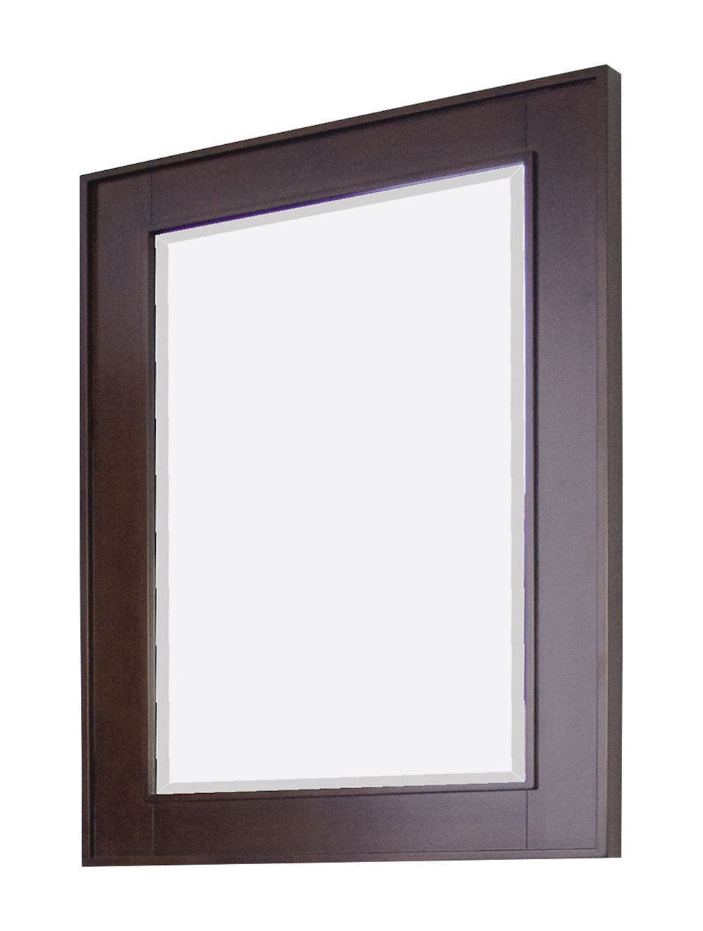 American Imaginations AI-2-1141 Rectangle Wood Framed Mirror without Shelf, 24-Inch x 32-Inch, Walnut Finish