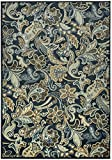 Rizzy Home Sorrento Collection Power Loomed Double Pointed Designs Area Rug, 7' 10'' x 10' 10'', Multicolor/Navy/Light Blue/Gold/Light Sage/Tan