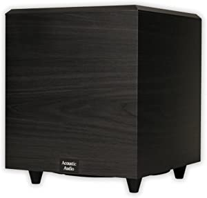 Acoustic Audio PSW-10 400 Watt 10-Inch Down Firing Powered Subwoofer (Black)