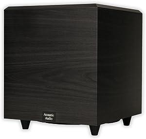 Acoustic Audio PSW-10 400 Watt 10-Inch Down Firing Powered Subwoofer (Black)