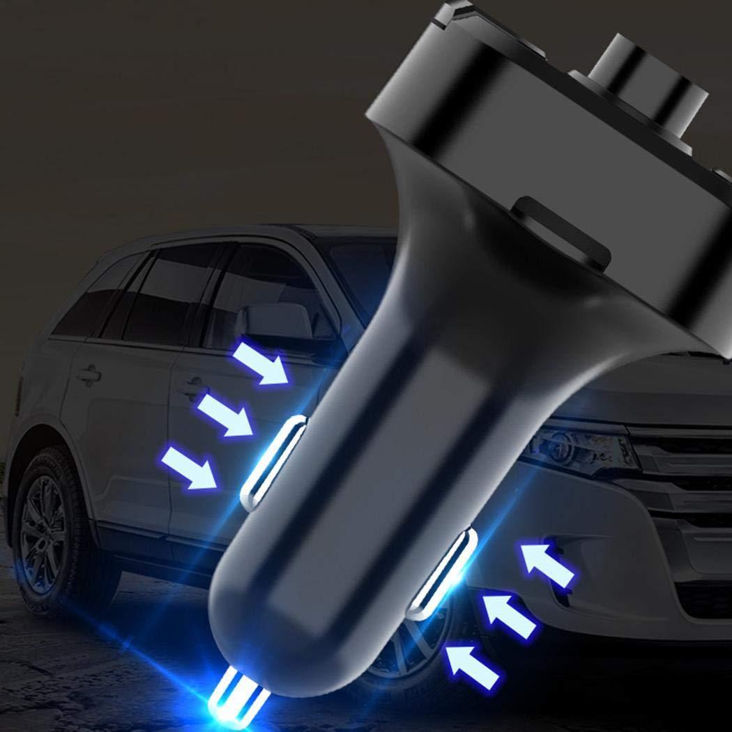 Ritokme Coche Bluetooth inal/ámbrico 3.1A Cargador USB Reproductor de MP3 Manos Libres Transmisor FM Bases de Carga