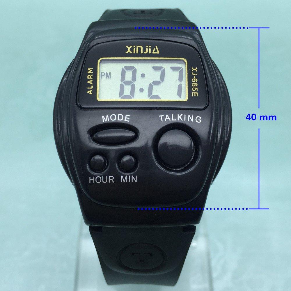 Relojes de muñeca con voz en inglés con alarma, multifuncionales, electrónicos, deportivos: Amazon.es: Relojes