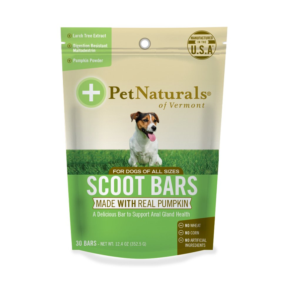 Pet Naturals of Vermont - Scoot Bars, Natural Anal Gland Support Supplement for Dogs, 30 Chew Bars by Pet Naturals