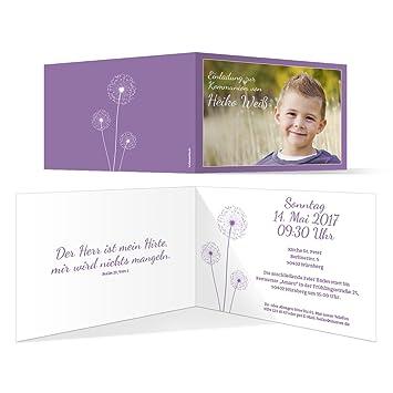 Konfirmationskarten Einladung Konfirmation Einladungskarten - Pusteblume in Apricot 10 St/ück