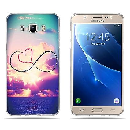 Funda Samsung Galaxy J7 2016, Carcasa Samsung Galaxy J710/ J710F, DIKAS 3D Alta Calidad Serie de Artística, Gel de Silicona TPU, Fina, Flexible, ...