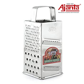 Ajanta Stainless Steel Multi Purpose 4 in 1 Slicer and Grater, Metallic(EE02) Graters & Slicers at amazon