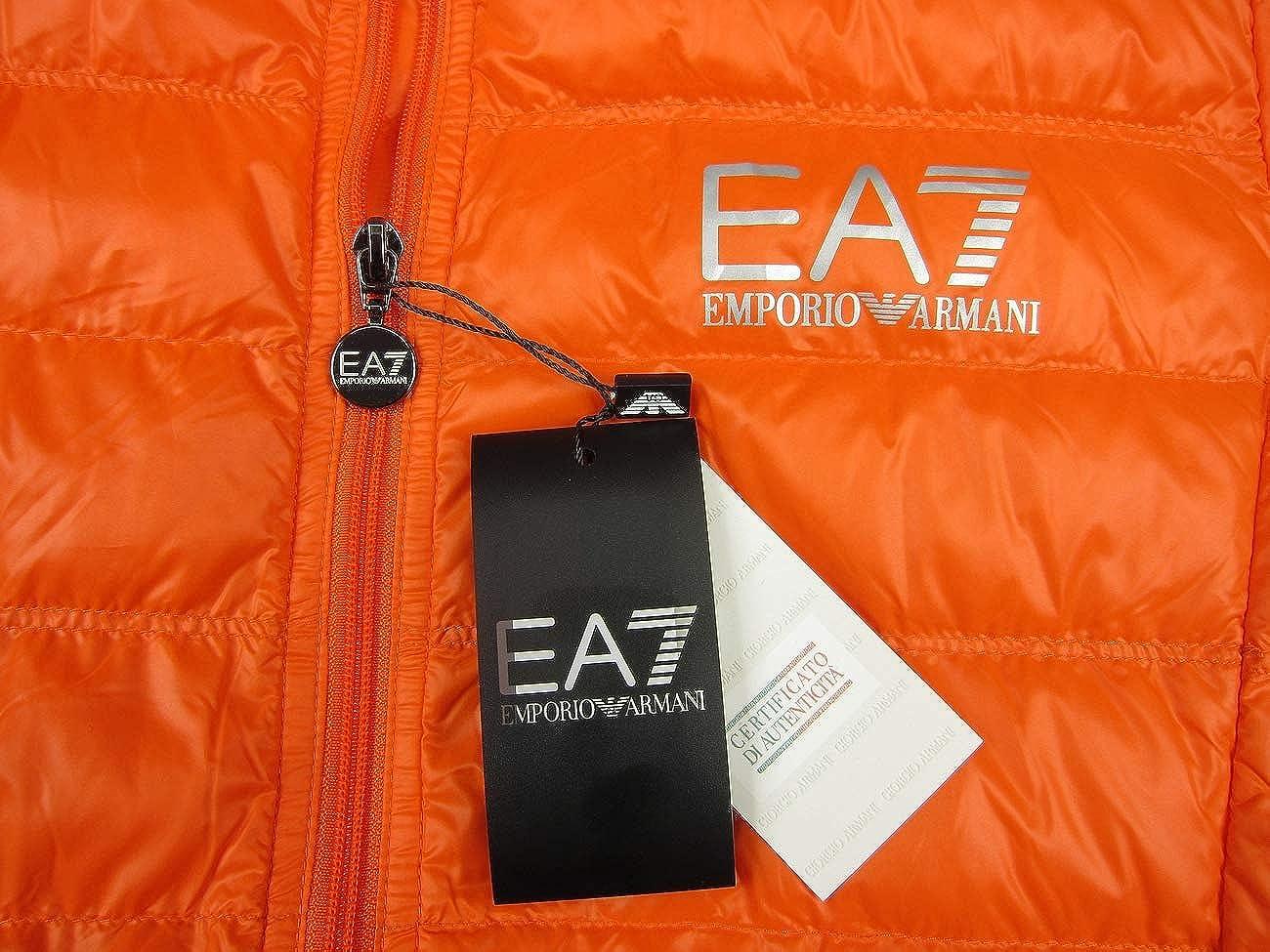 ea3692fde127bf Emporio Armani EA7 Herren Men Daunen Down Leichte Jacke Jacket Orange  (XXL): Amazon.de: Bekleidung