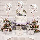 """Suyisy 20 Pack 12"""" Rose Gold Confetti Balloons for Wedding Engagement Birthday Party Events"""