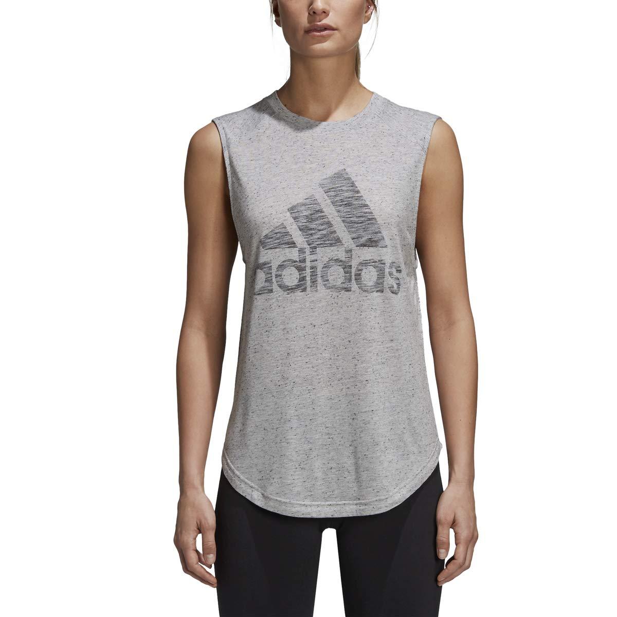 adidas Women's Winner Muscle Tank Top Mgh Solid Grey/Dgh Solid Grey Tank Top