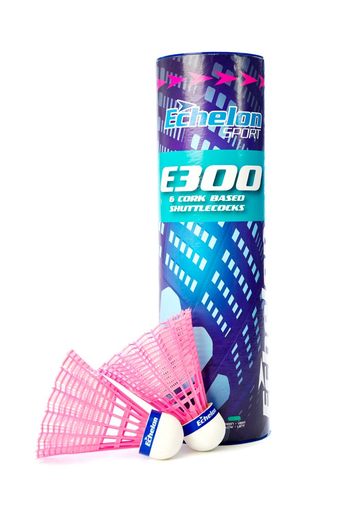E300 Pink Cork Based Shuttlecocks Echelon Sport E300-Pink