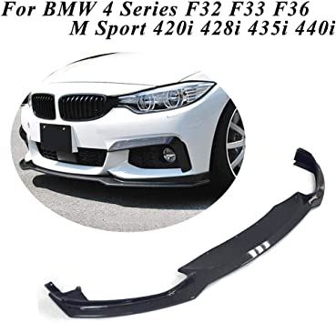 NINTE Front Lip for 2014-2019 BMW 4 Series F32//F33//F36 ABS Matt Black Front Bumper Spoiler Splitter for 4 Series M-Sport Bumper