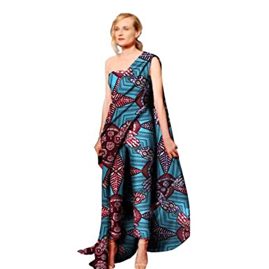 a9c0c32964ae Amazon.com  African Clothing For Women Kitenge Cotton Wax Print Romper  Jumpsuit  Clothing