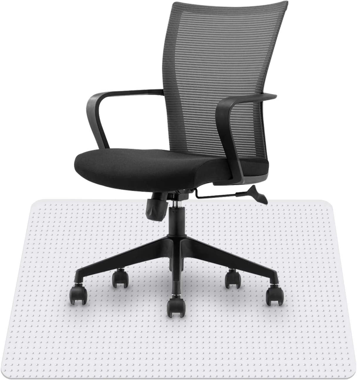 HST Chair Mat for Carpeted Floors, Good for Desks, Office and Home, Protects Floors,36 X 48 with Glide Studded,Suitable for use on Low-Pile Carpets up to 1/4-inch Thick.