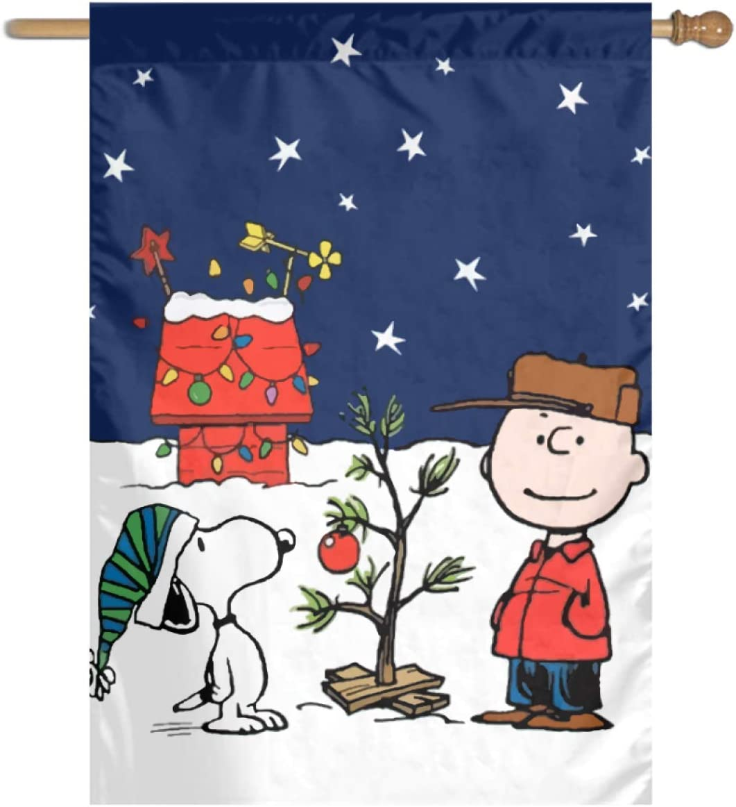 WOMFUI Snoopy Garden Flag Printed Flag Easter Double-Sided Flag 28 x 40 in