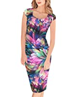 Lady Dress, Misaky Floral Pattern Business Casual Work Party Pencil Dress