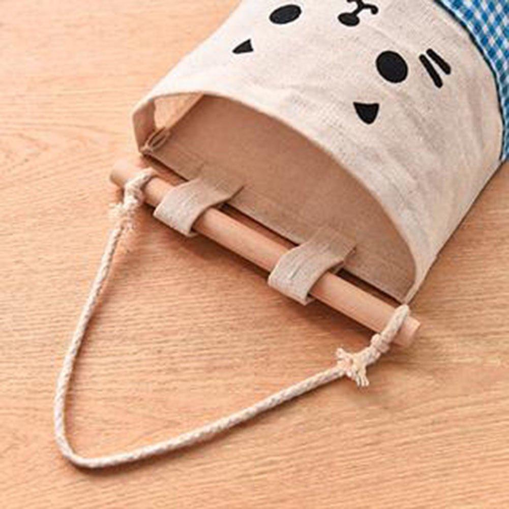 Blau Milopon Baumwolle Wand H/ängeorganizer Wandtaschen Aufbewahrungstasche h/ängenden H/ängeaufbewahrung Beutel T/ür zur/ück Aufbewahrungstasche Mehrschicht-Aufbewahrungstasche