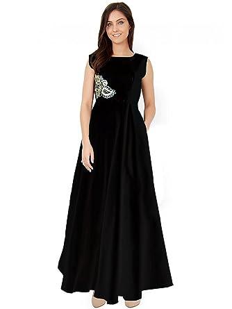 2897df8e5d9 PARI FASHION Women s Readymante Taffeta Silk Stitched Gown Party Wear Gown  Letest Disine Gown Fancy Gown