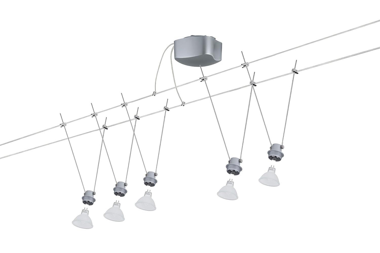 Paulmann Seilsystem, Metall, GU5.3, GU5.3, GU5.3, Silber f523e3