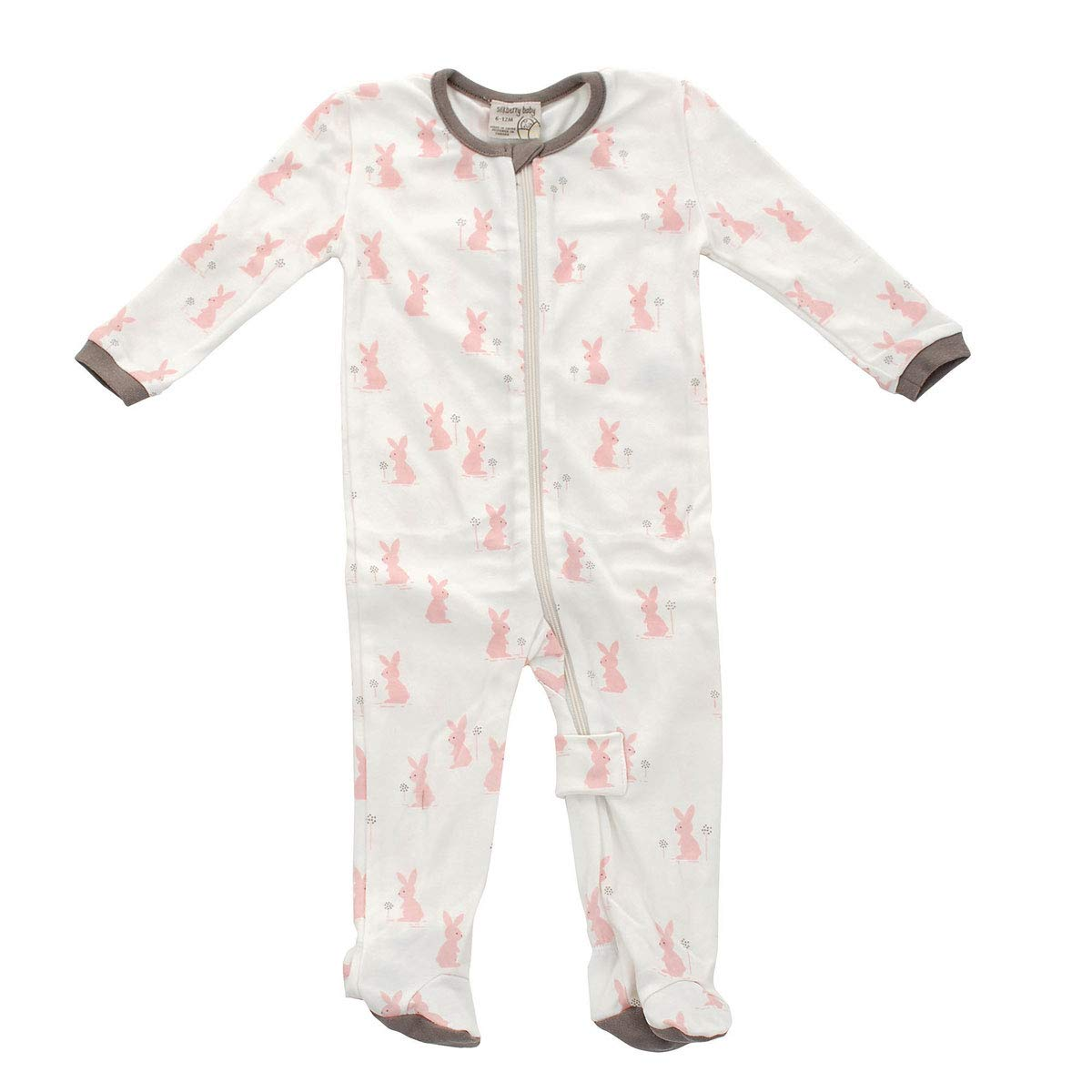 Silkberry Baby Organic Cotton Footies with Zipper (Girl & Unisex)