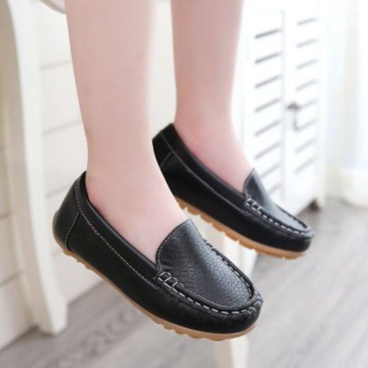 Sakuracan Boys Girls Leather Loafers Slip-on Boat Dress-Shoes (Toddler/Little Kid) by Sakuracan (Image #2)