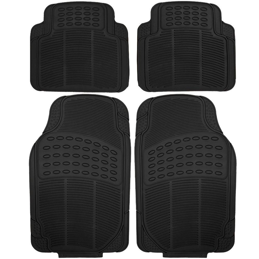 Amazon.com: Floor Mats ECCPP 4Pcs Full Set Ridged Heavy Duty Rubber Floor  liners for SUV, Van & Trucks- Front & Rear, Driver & Passenger Seat  (Black): ...