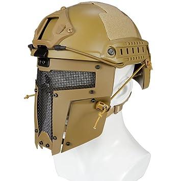 haoYK Casco Deportivo Multiusos Protector táctico Casco Airsoft Paintball MH Tipo Fast Casco Gafas CS Juego