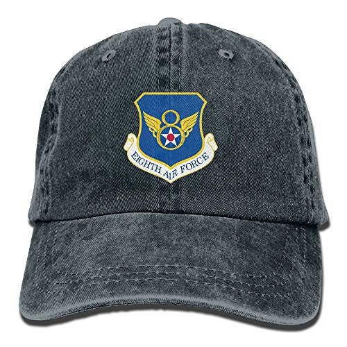 Force Air Insignia Cap (Trableade US Eighth Air Force Insignia Unisex Sport Adjustable Structured Baseball Cowboy Hat)