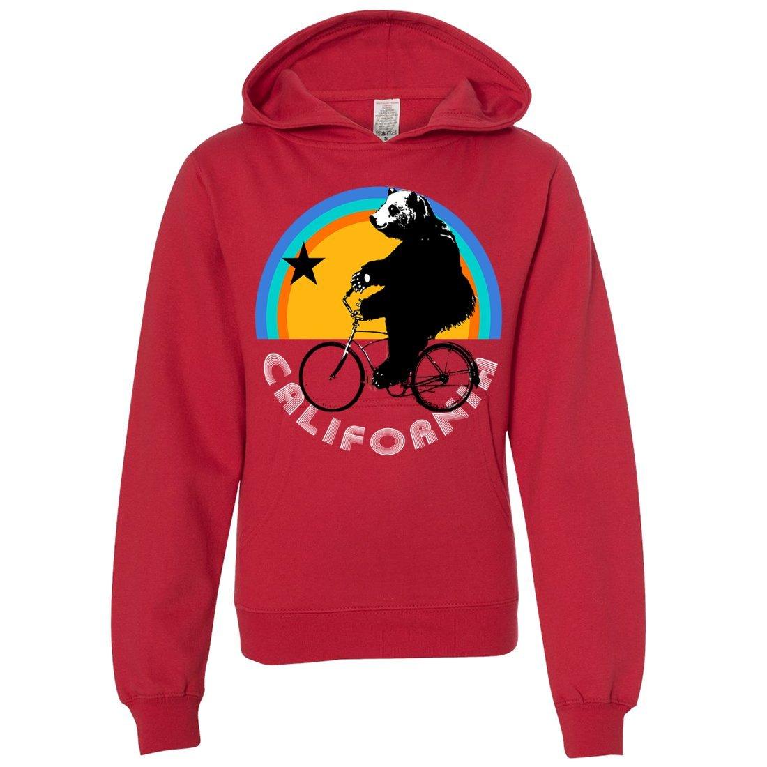 California Bear On Bike Youth Sweatshirt Hoodie Dolphin Shirt Co