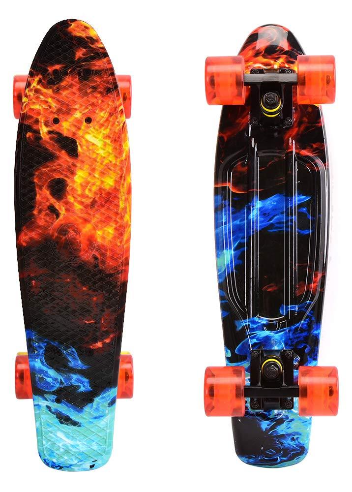 ChromeWheels Skateboards 22 inch Complete Skateboard Deck Mini Cruiser for Kids Boys Youths Beginners Adults