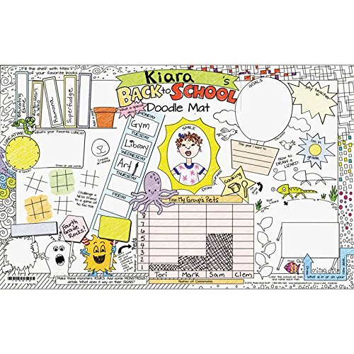 (Really Good Stuff Welcome Back To School Doodle Activity Mats)